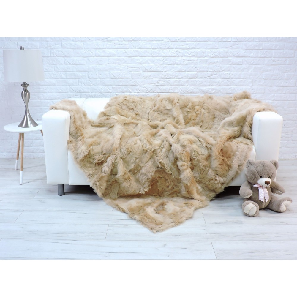 Amazing genuine raccoon throw blanket 185