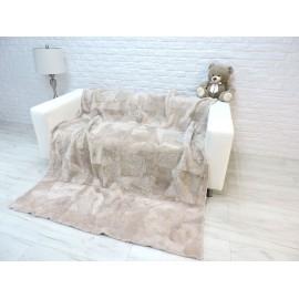 Luxury real alpaca curly fur throw blanket 228
