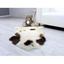 Luxury real lama fur throw blanket rich black 499