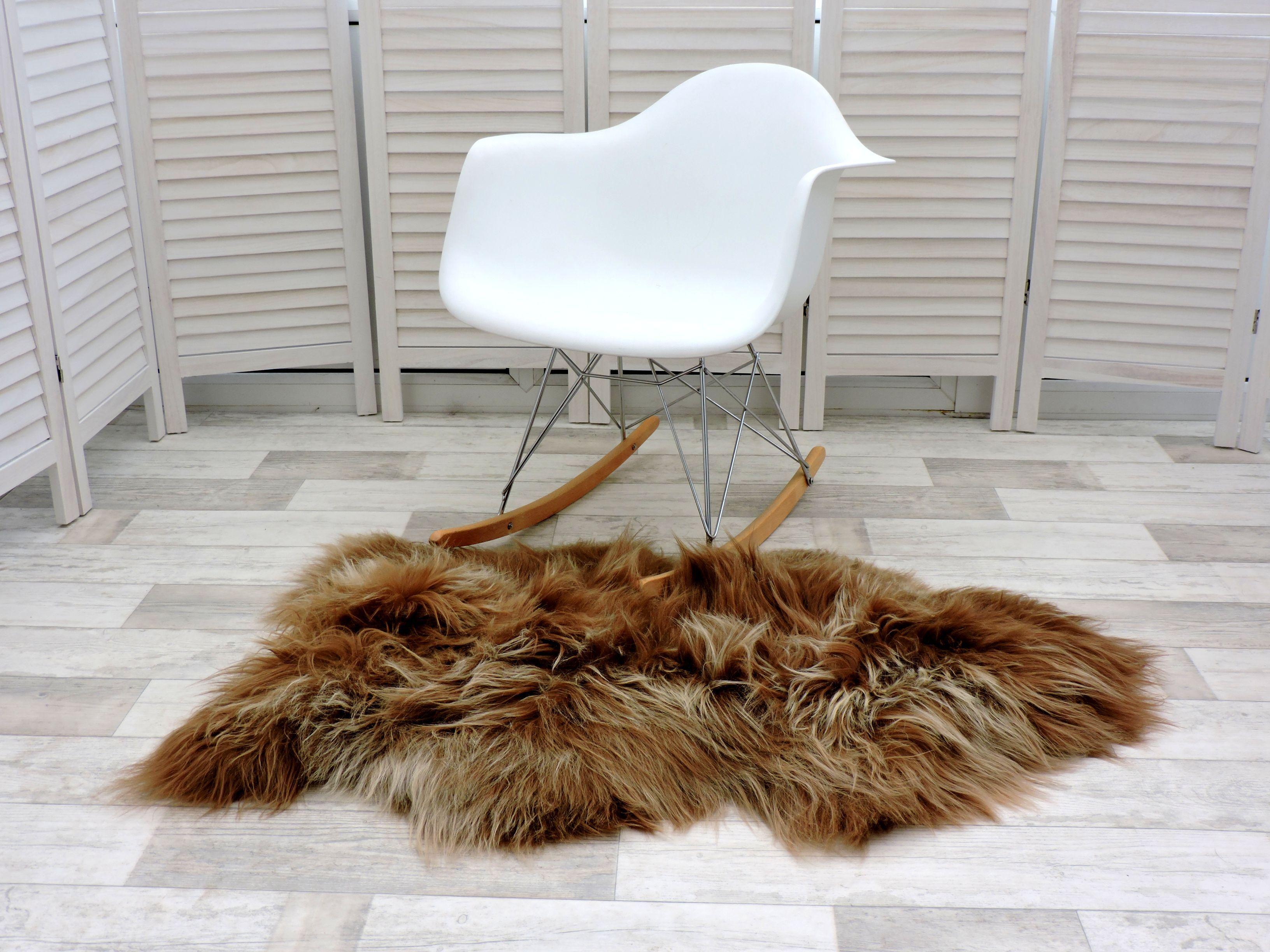 amazing isl ndischer schafsfell teppich einzeln rostbraun gef rbt 260 ebay. Black Bedroom Furniture Sets. Home Design Ideas