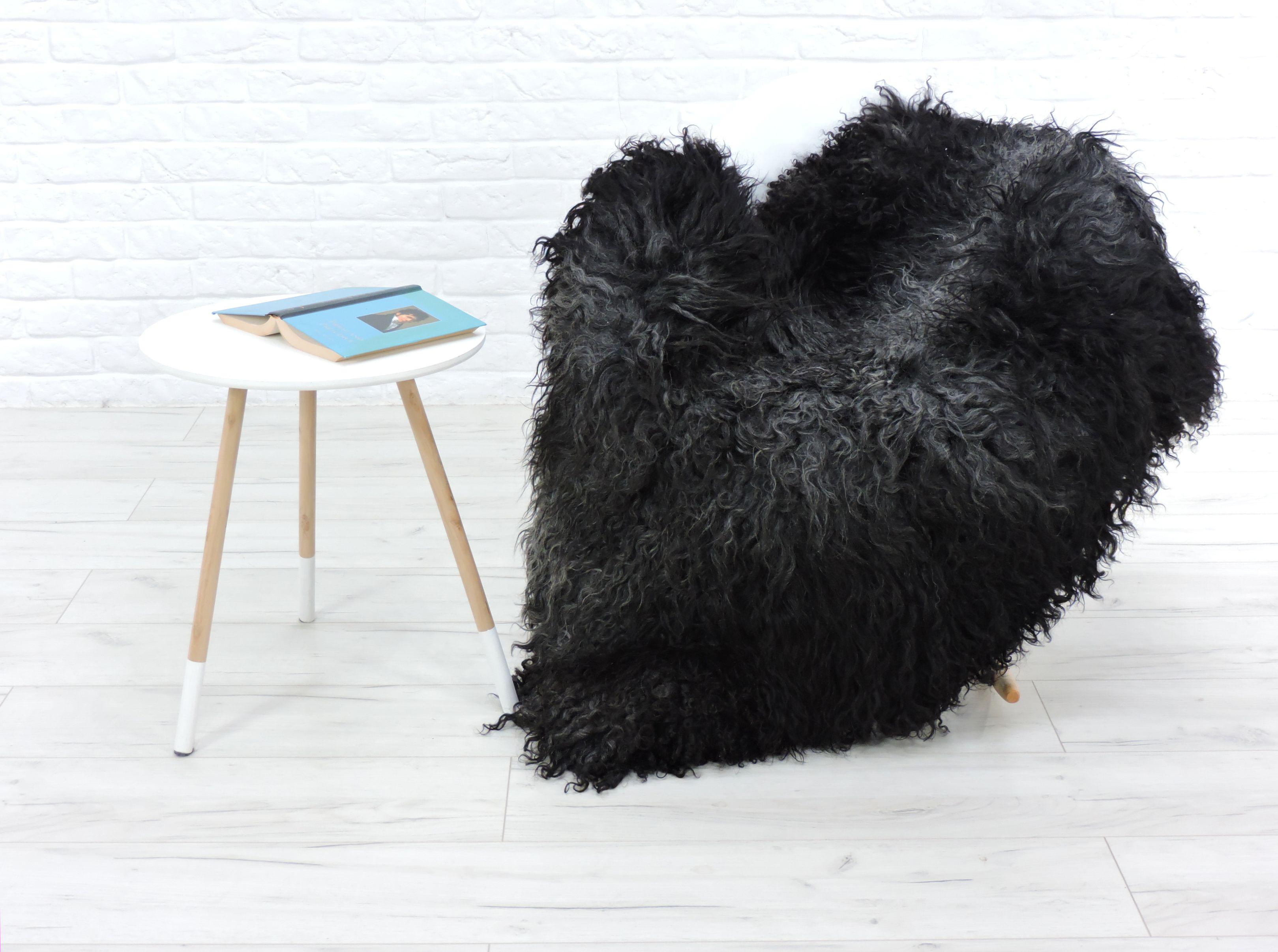 v ritable gotland tapis peau de mouton race rare mod le unique 150cm x ebay. Black Bedroom Furniture Sets. Home Design Ideas