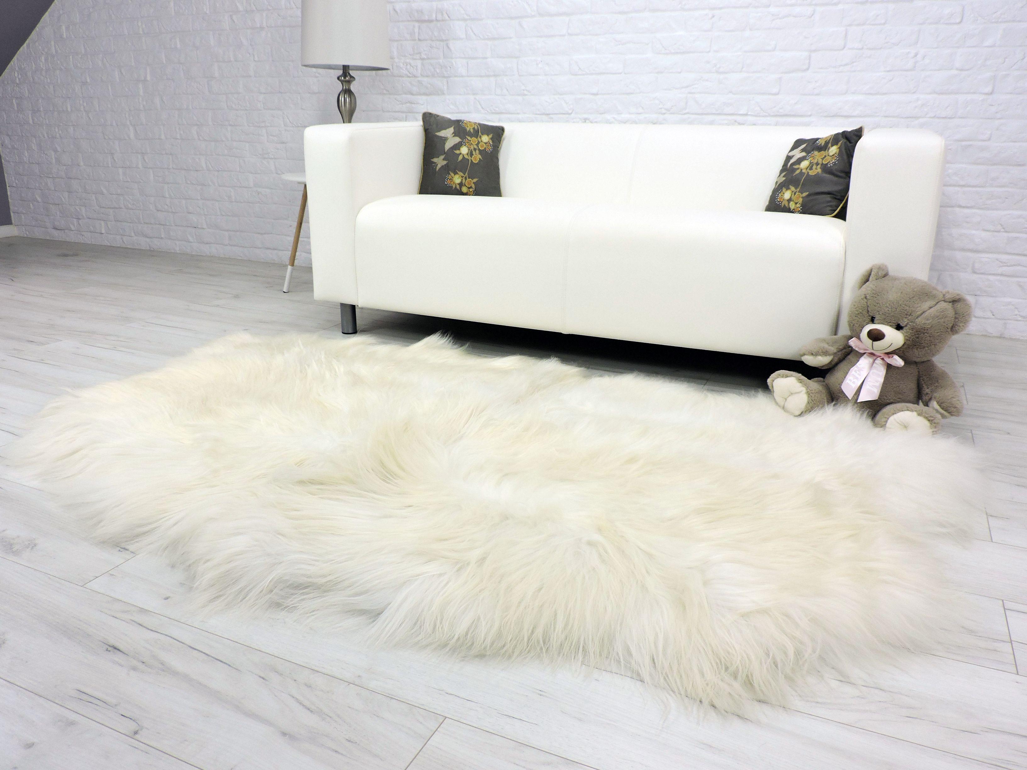 Genuine White Icelandic Sheepskin Rug